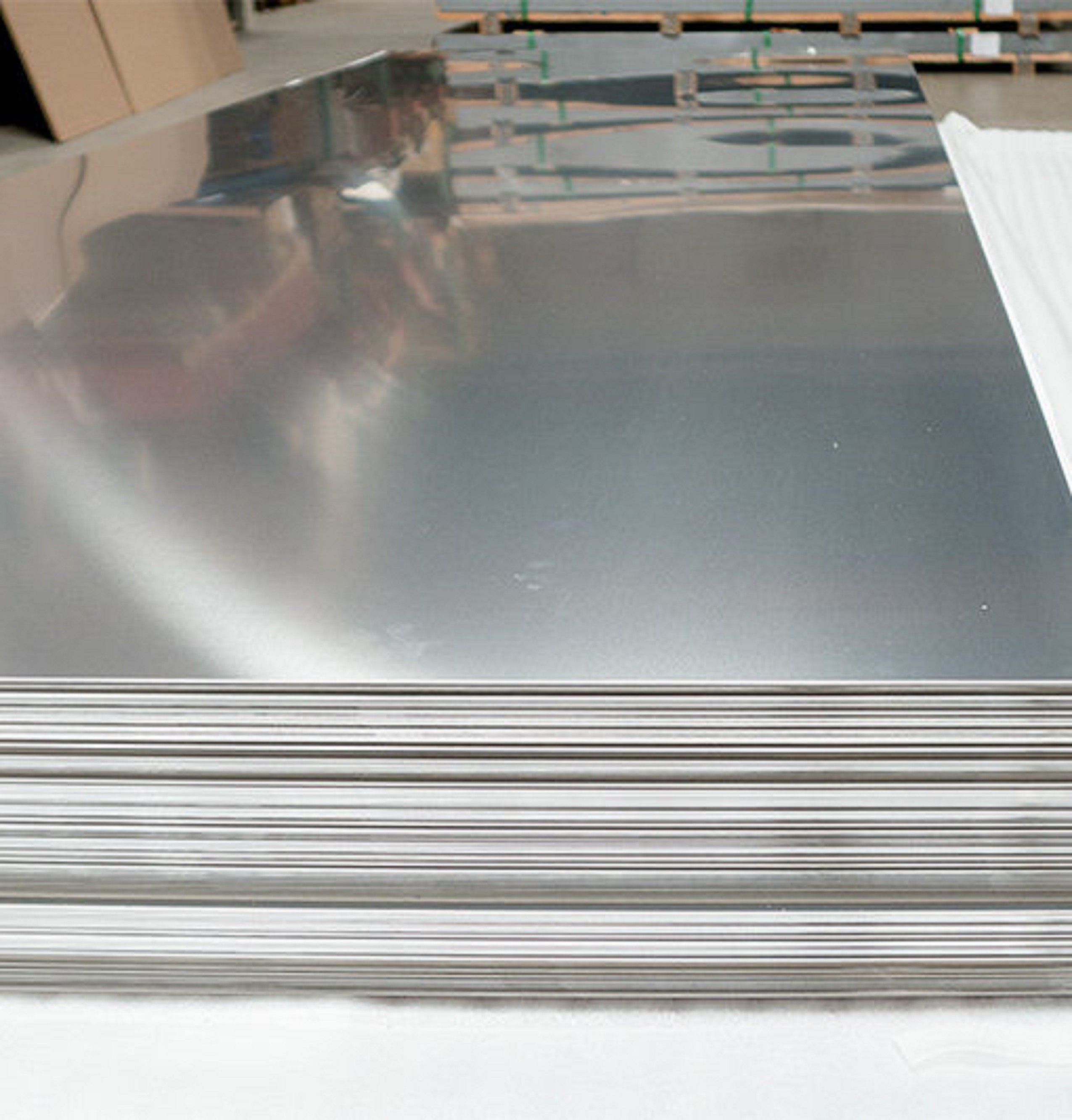 """3//16/"""" 304 2B Stainless Steel Sheet Plate  4/"""" x 4/"""""""