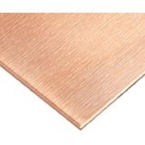 "Copper Sheet Plate .021/"" 16oz 24 gauge 6/"" x 12/"""