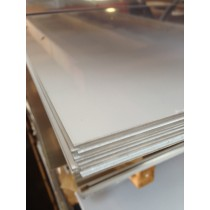 "Aluminum 3003-H14 SheetWith PVC 1 Side.250"" X 2' X 2'"