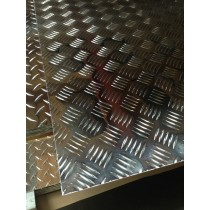 "AL Diamondplate Five Bar.063"" X 1' X 4'"