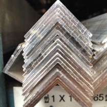 """Aluminum 6063-T52 Angle1/2"""" X 1/2"""" X 1/16""""2 8' Pcs"""