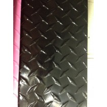 "AL Diamondplate Black .045"" X 1' X 1'"