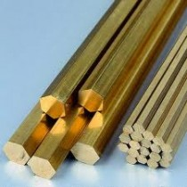 "BRASS ROD / BAR / SOLID HEX 1 3/16"" x 48"""