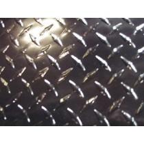 "AL Diamondplate Painted Black .025"" X 2' X 2'"