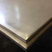 "Stainless 304 Plate  1/4"" X 1' X 1'"