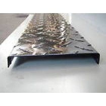 "Aluminum diamond plate channel 4"" x 2"" x .045"" x 96"""