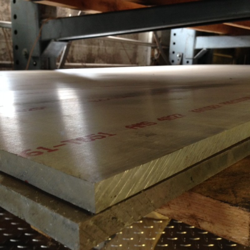 """Aluminum 6061-T651 Sheet/Plate<br>.625"""" X 2' X 4'"""