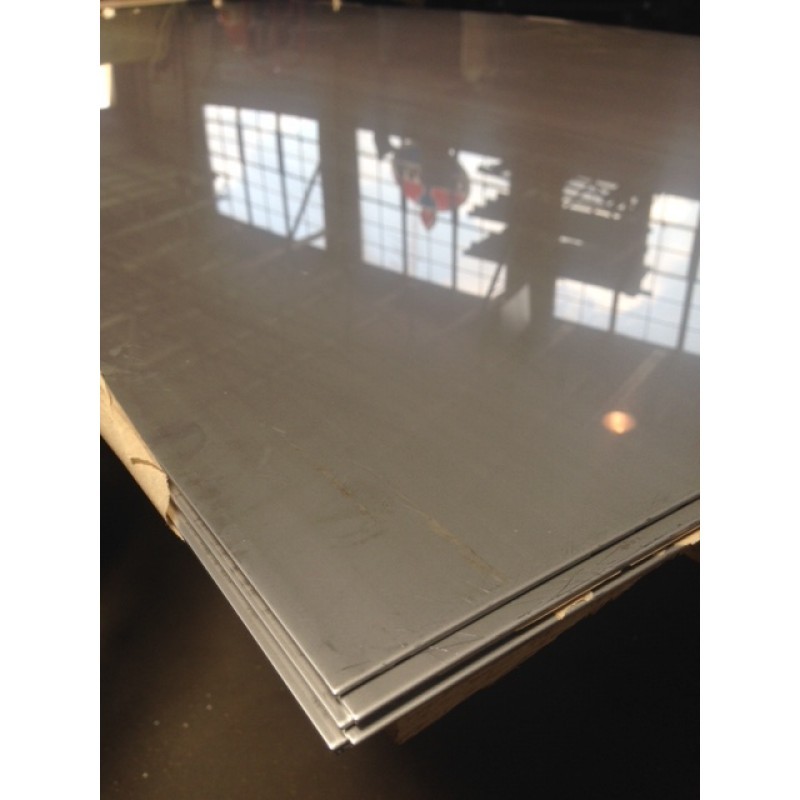 Stainless 304 2-B Sheet <br> 12GA X 1' X 2'