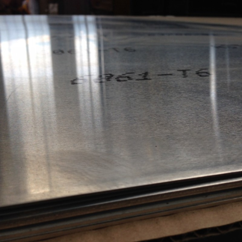 "Aluminum 6061-T6 Sheet w/ PVC 1 side<br>.050"" X 3' X 4'"