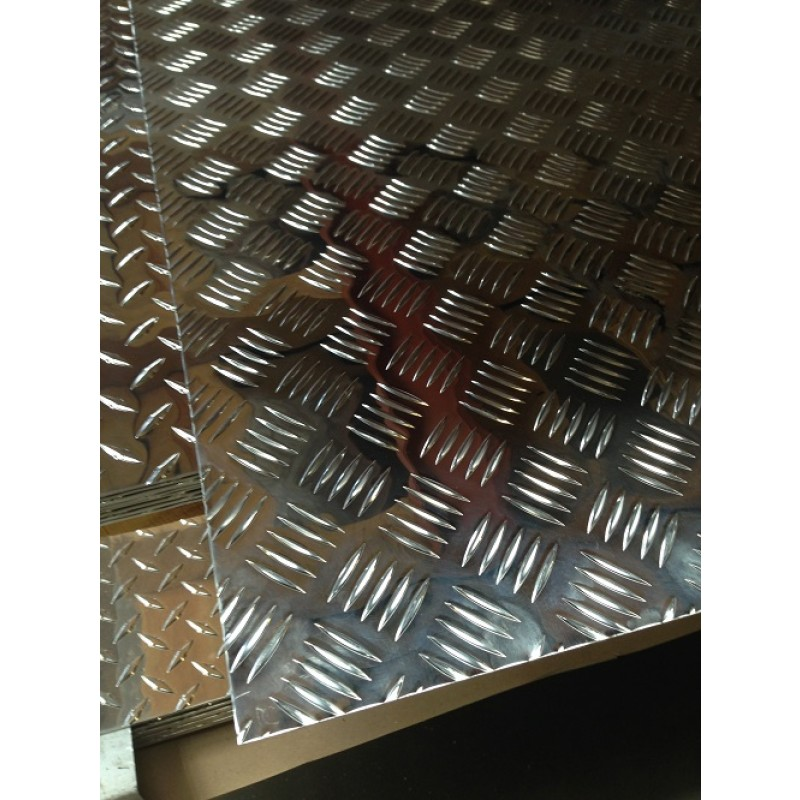 "AL Diamondplate Five Bar<br>.063"" X 2' X 4'"