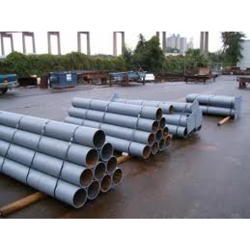 "PRIMERED STEEL PIPE BOLLARD 4"" x .140"" x 7'"