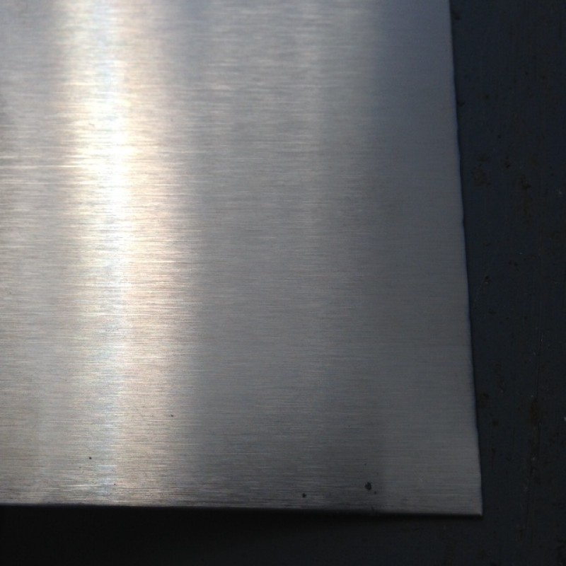 "Stainless 304 #3 w/PVC One Side<br> 1/8"" X 1' X 4'"