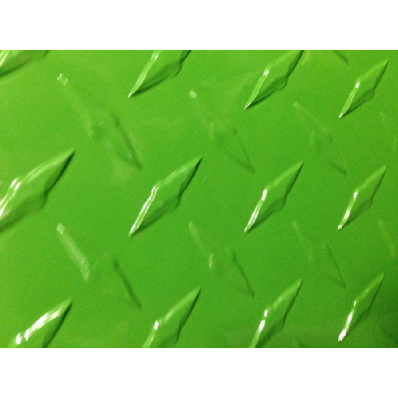 "AL Diamondplate Green<br> .045"" X 2' X 2'"