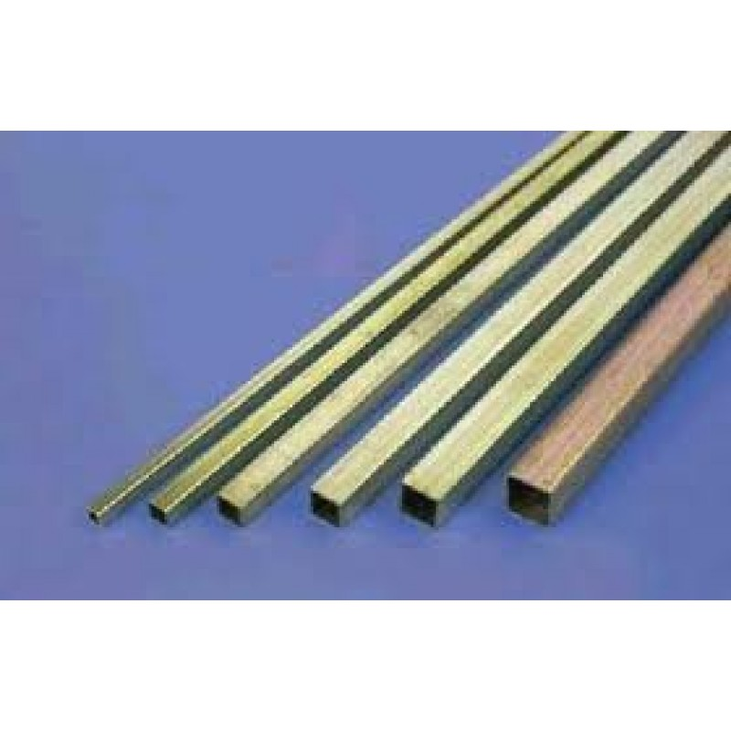 "BRASS SQUARE TUBING 1"" x 1"" x .062 x 60"" long"