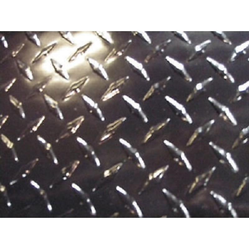 "AL Diamondplate Painted Black<br> .025"" X 2' X 4'"