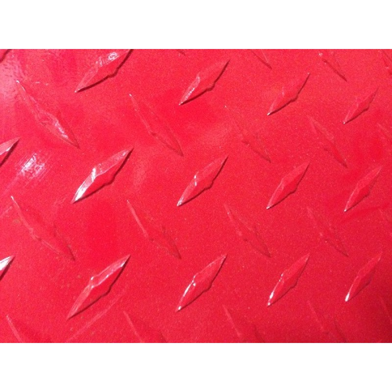 "AL Diamondplate Red<br> .045"" X 1' X 4'"