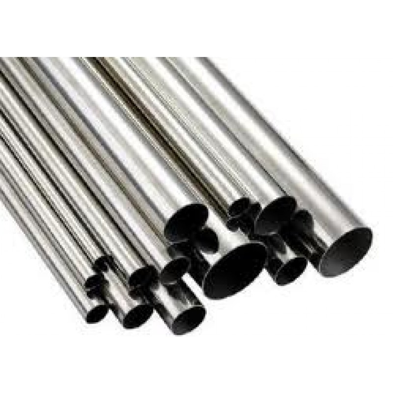 "STAINLESS STEEL ROUND TUBE POLISHED 3/4"" x .065 x 8'"