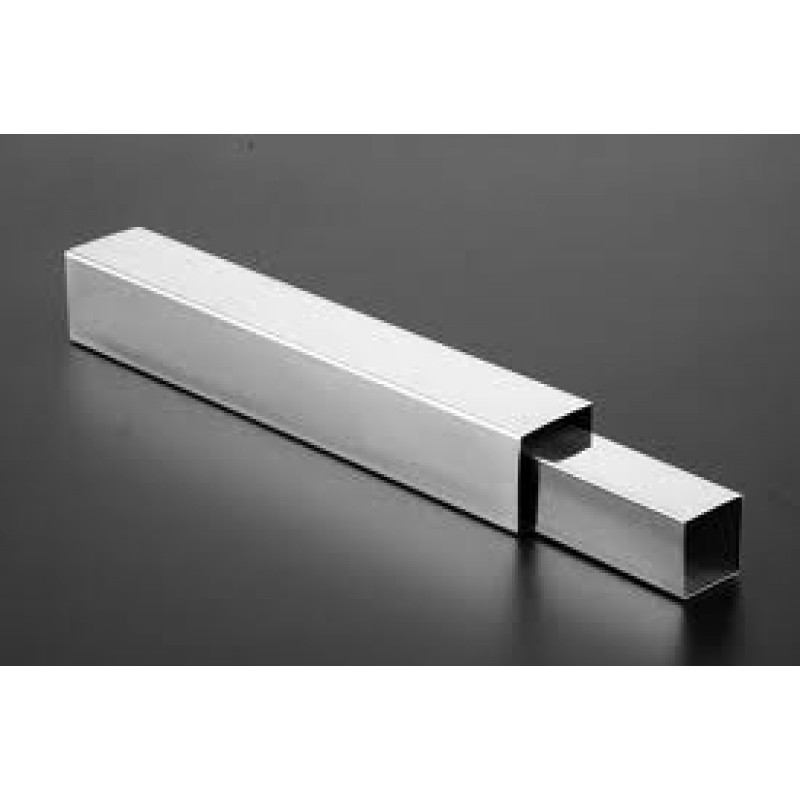 "STAINLESS STEEL SQUARE TUBE 2-1/2""x2-1/2""x1​/4""x 24"" 304"