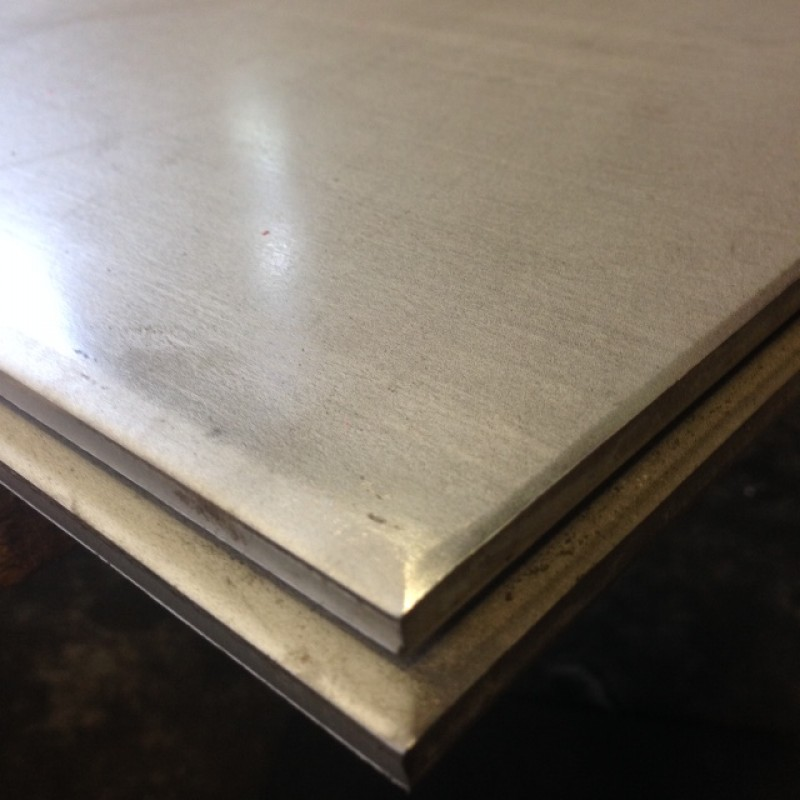 "Stainless 304 Plate <br> 1/4"" X 1' X 4'"