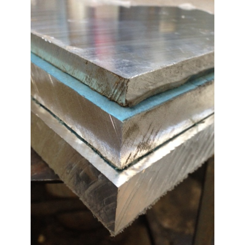 "Aluminum Cast Tooling Plate<br>PVC Both Sides<br>.250"" X 2' X 6'"