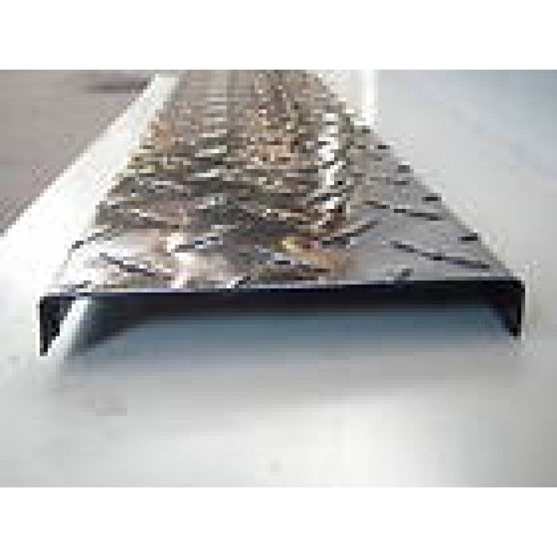 "Aluminum diamond plate channel 4"" x 1"" x .045"" x 96"""