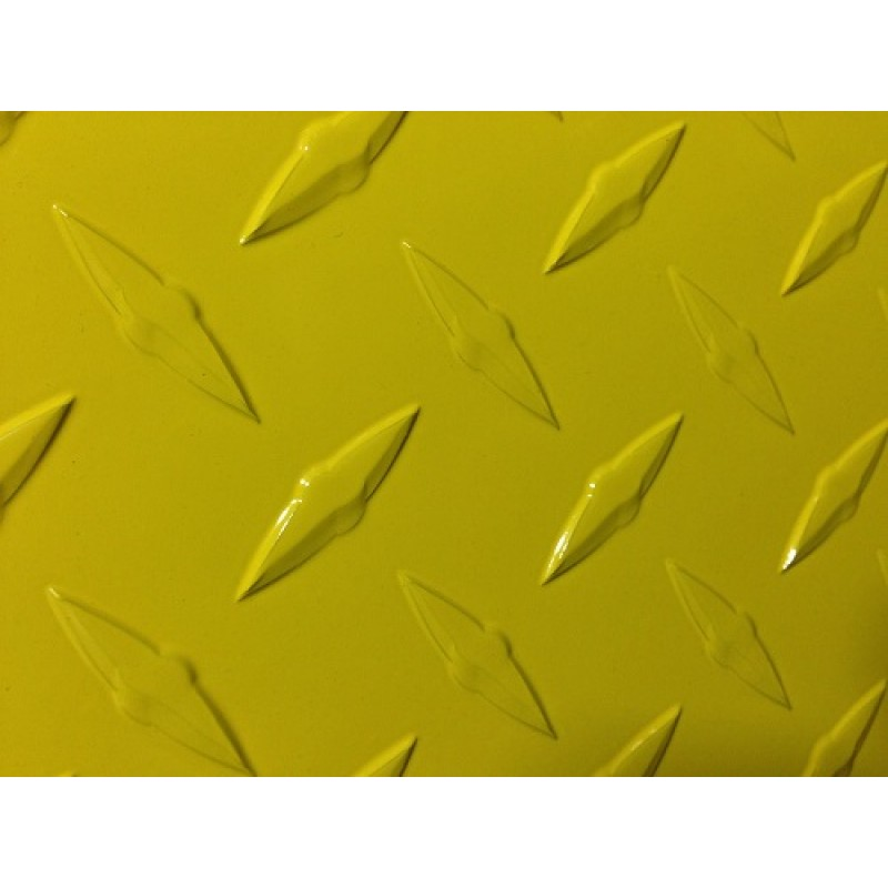 "AL Diamondplate Yellow<br> .045"" X 3' X 4'"